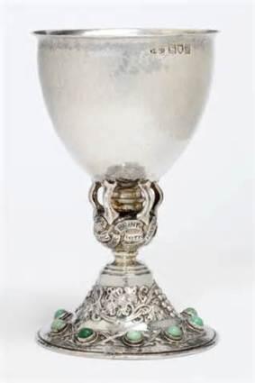 Medieval wine goblet