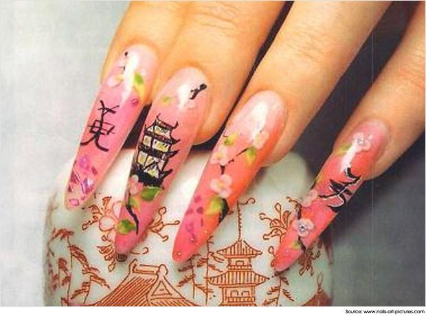 Japanese Nail Art Traditional