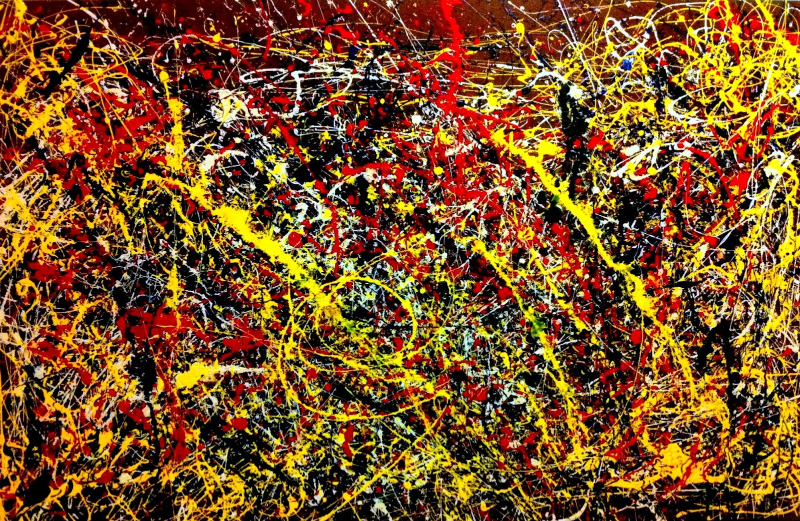Sunday evening art gallery blog jackson pollock for Mural jackson pollock