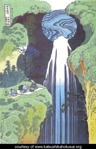 Amida-Waterfall-on-the-Kisokaido-Road-(Kisoji-no-oku-Amidagataki)
