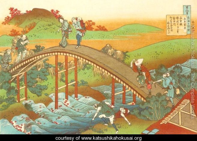 People-Crossing-an-Arched-Bridge-(Ariwara-no-Narihira)-large
