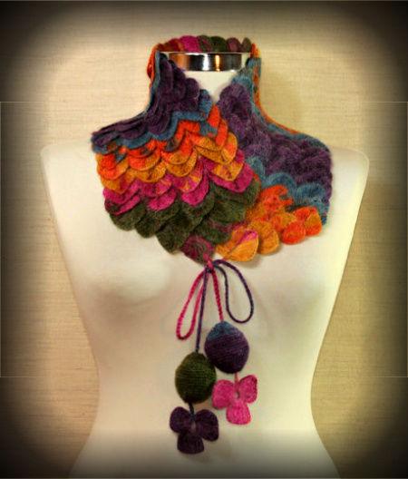 crocodile-stitch-crochet-scarf1